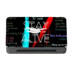Twenty One Pilots Stay Alive Song Lyrics Quotes Memory Card Reader With Cf by Onesevenart