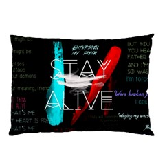 Twenty One Pilots Stay Alive Song Lyrics Quotes Pillow Case (two Sides) by Onesevenart