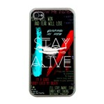 Twenty One Pilots Stay Alive Song Lyrics Quotes Apple iPhone 4 Case (Clear)