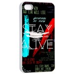 Twenty One Pilots Stay Alive Song Lyrics Quotes Apple iPhone 4/4s Seamless Case (White)
