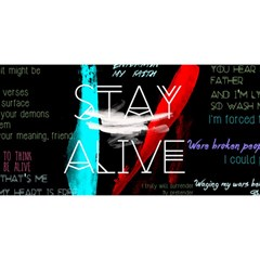 Twenty One Pilots Stay Alive Song Lyrics Quotes You Are Invited 3d Greeting Card (8x4) by Onesevenart