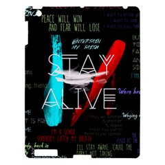 Twenty One Pilots Stay Alive Song Lyrics Quotes Apple Ipad 3/4 Hardshell Case by Onesevenart