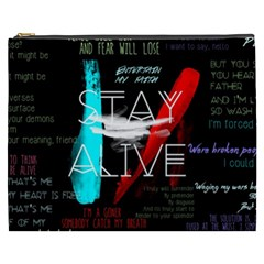 Twenty One Pilots Stay Alive Song Lyrics Quotes Cosmetic Bag (xxxl)  by Onesevenart