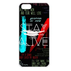 Twenty One Pilots Stay Alive Song Lyrics Quotes Apple Iphone 5 Seamless Case (white) by Onesevenart