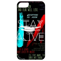 Twenty One Pilots Stay Alive Song Lyrics Quotes Apple Iphone 5 Classic Hardshell Case by Onesevenart