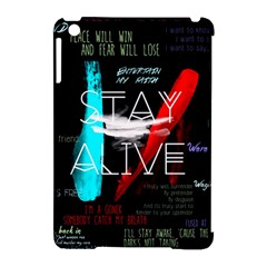 Twenty One Pilots Stay Alive Song Lyrics Quotes Apple Ipad Mini Hardshell Case (compatible With Smart Cover) by Onesevenart
