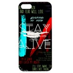 Twenty One Pilots Stay Alive Song Lyrics Quotes Apple iPhone 5 Hardshell Case with Stand