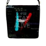 Twenty One Pilots Stay Alive Song Lyrics Quotes Flap Messenger Bag (L)