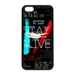 Twenty One Pilots Stay Alive Song Lyrics Quotes Apple iPhone 5C Seamless Case (Black)