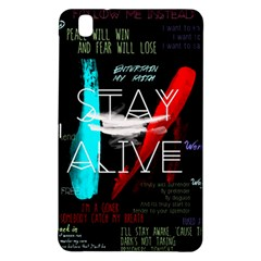 Twenty One Pilots Stay Alive Song Lyrics Quotes Samsung Galaxy Tab Pro 8 4 Hardshell Case by Onesevenart