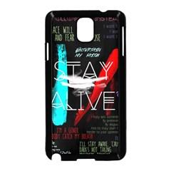 Twenty One Pilots Stay Alive Song Lyrics Quotes Samsung Galaxy Note 3 Neo Hardshell Case (black) by Onesevenart