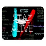 Twenty One Pilots Stay Alive Song Lyrics Quotes Double Sided Flano Blanket (Large)
