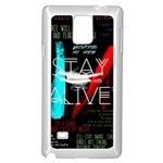 Twenty One Pilots Stay Alive Song Lyrics Quotes Samsung Galaxy Note 4 Case (White)