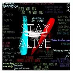 Twenty One Pilots Stay Alive Song Lyrics Quotes Large Satin Scarf (square) by Onesevenart