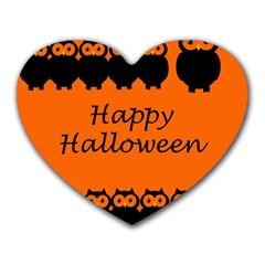 Happy Halloween   Owls Heart Mousepads by Valentinaart