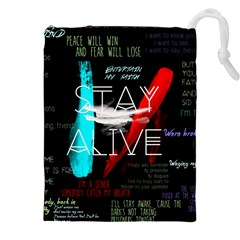 Twenty One Pilots Stay Alive Song Lyrics Quotes Drawstring Pouches (xxl) by Onesevenart