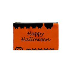 Happy Halloween   Owls Cosmetic Bag (small)  by Valentinaart