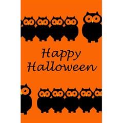 Happy Halloween   Owls 5 5  X 8 5  Notebooks by Valentinaart