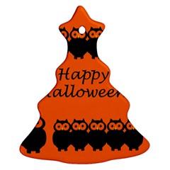 Happy Halloween   Owls Ornament (christmas Tree) by Valentinaart