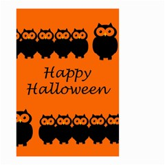 Happy Halloween   Owls Small Garden Flag (two Sides) by Valentinaart