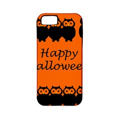 Happy Halloween   Owls Apple Iphone 5 Classic Hardshell Case (pc+silicone) by Valentinaart