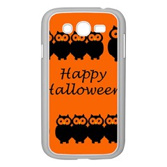 Happy Halloween   Owls Samsung Galaxy Grand Duos I9082 Case (white) by Valentinaart
