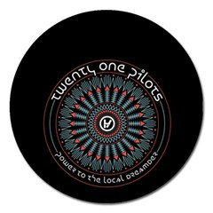 Twenty One Pilots Magnet 5  (round) by Onesevenart