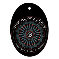 Twenty One Pilots Oval Ornament (two Sides) by Onesevenart