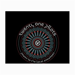 Twenty One Pilots Small Glasses Cloth (2 Side) by Onesevenart
