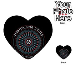 Twenty One Pilots Multi Purpose Cards (heart)  by Onesevenart