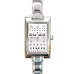 Ugly Christmas Humping Rectangle Italian Charm Watch by Onesevenart