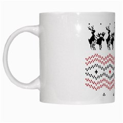 Ugly Christmas Humping White Mugs by Onesevenart