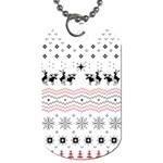Ugly Christmas Humping Dog Tag (One Side)