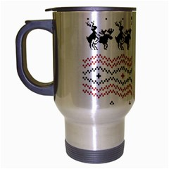 Ugly Christmas Humping Travel Mug (silver Gray) by Onesevenart