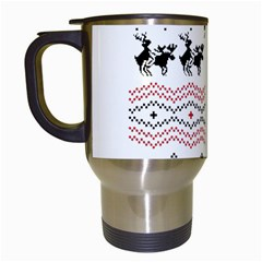 Ugly Christmas Humping Travel Mugs (white) by Onesevenart