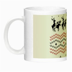 Ugly Christmas Humping Night Luminous Mugs by Onesevenart