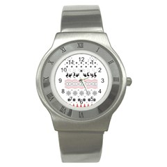 Ugly Christmas Humping Stainless Steel Watch by Onesevenart