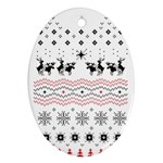 Ugly Christmas Humping Oval Ornament (Two Sides)