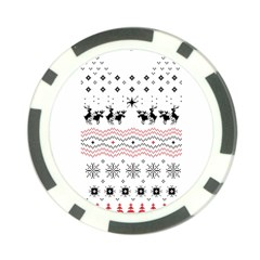 Ugly Christmas Humping Poker Chip Card Guards by Onesevenart