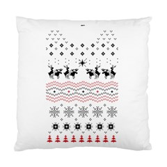 Ugly Christmas Humping Standard Cushion Case (two Sides) by Onesevenart