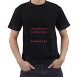 Ugly Christmas Humping Men s T-Shirt (Black)