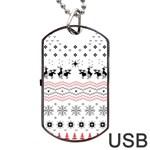 Ugly Christmas Humping Dog Tag USB Flash (One Side)