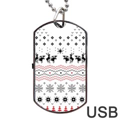 Ugly Christmas Humping Dog Tag Usb Flash (two Sides)  by Onesevenart