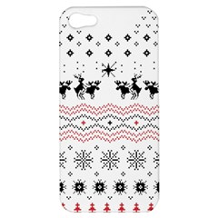 Ugly Christmas Humping Apple Iphone 5 Hardshell Case by Onesevenart