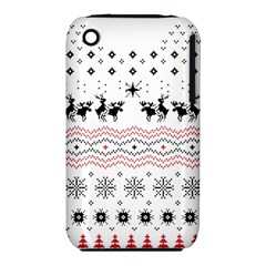 Ugly Christmas Humping Apple Iphone 3g/3gs Hardshell Case (pc+silicone) by Onesevenart