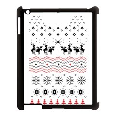 Ugly Christmas Humping Apple Ipad 3/4 Case (black) by Onesevenart