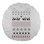 Ugly Christmas Humping Large 18  Premium Round Cushions