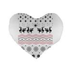Ugly Christmas Humping Standard 16  Premium Heart Shape Cushions