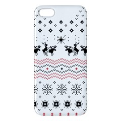 Ugly Christmas Humping Apple Iphone 5 Premium Hardshell Case by Onesevenart