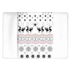 Ugly Christmas Humping Samsung Galaxy Tab 10 1  P7500 Flip Case by Onesevenart
